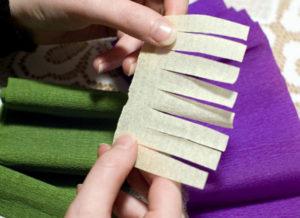 Крокусы из гофрированной бумаги (57)