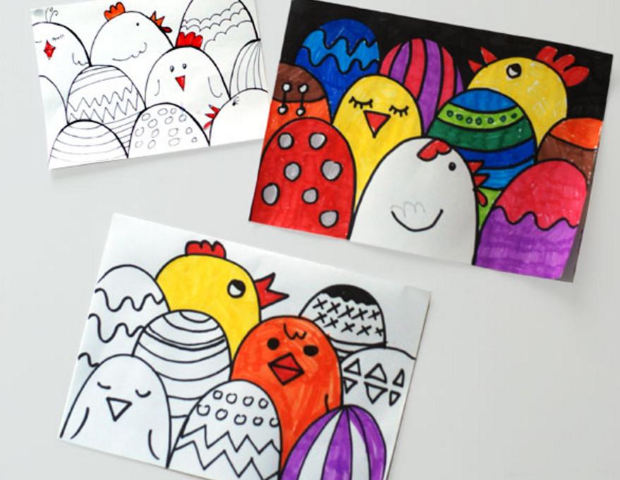 Пасхальные открытки своими руками.