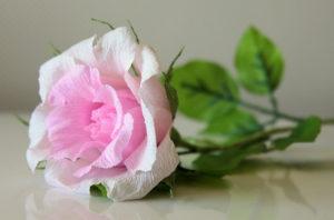 Роза из гофрированной бумаги (2)