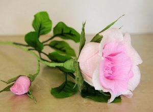 Роза из гофрированной бумаги (34)