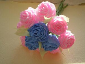 Розы из гофрированной бумаги пошагово (1)