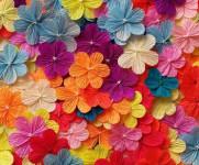 Цветы из гофрированной бумаги (4)