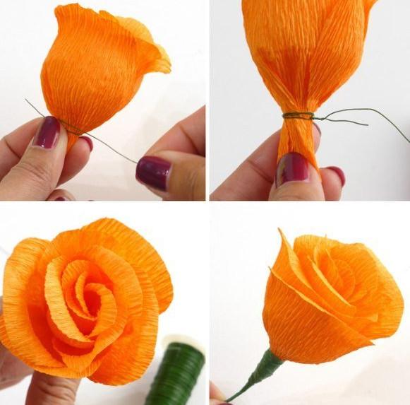 Цветы из гофробумаги своими руками (1)