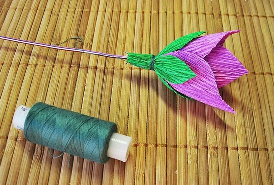 Цветы из гофробумаги своими руками (37)