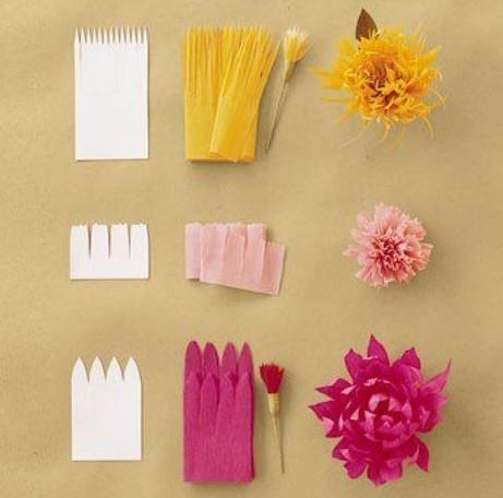 Цветы из гофробумаги своими руками (40)