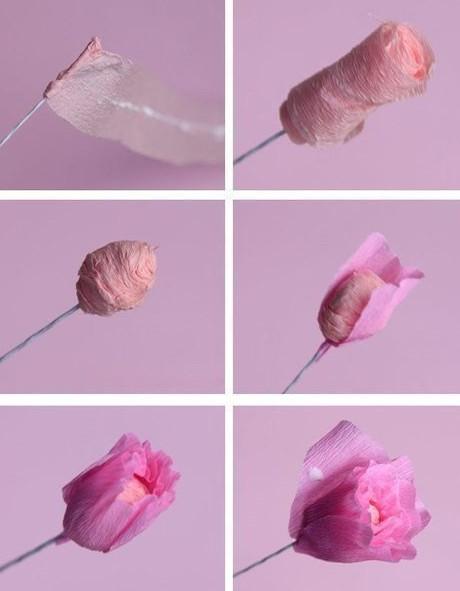 Цветы из гофробумаги своими руками (42)