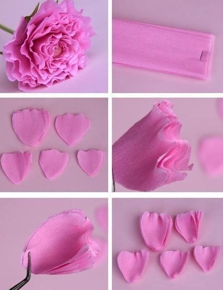 Цветы из гофробумаги своими руками (43)