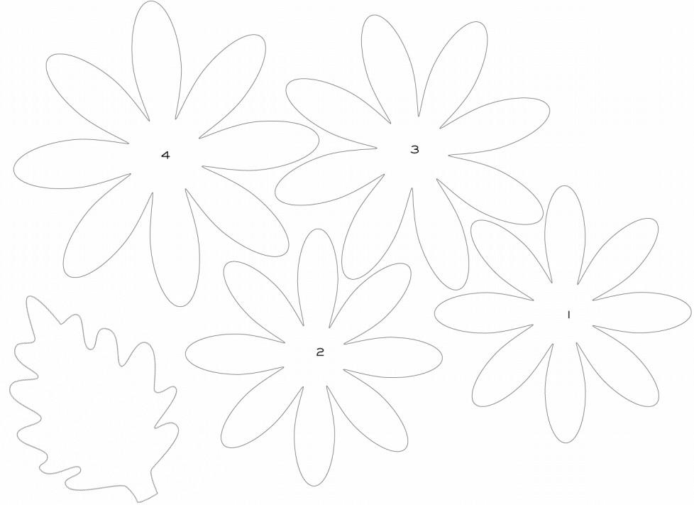 Шаблоны для бумажных цветов своими руками 475