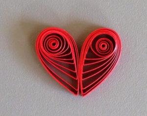 сердечки квиллинг (10)