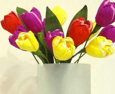 Тюльпаны из бумаги своими руками.