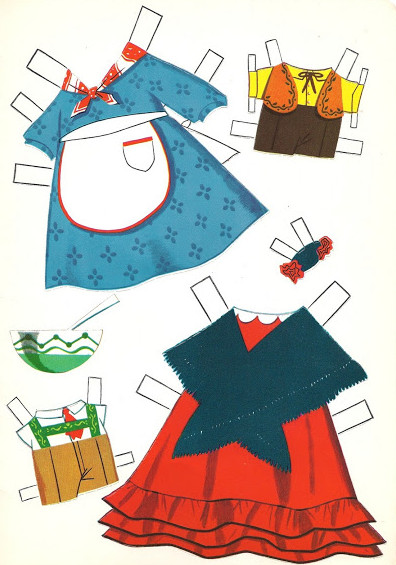 Бумажные куклы с одеждой.