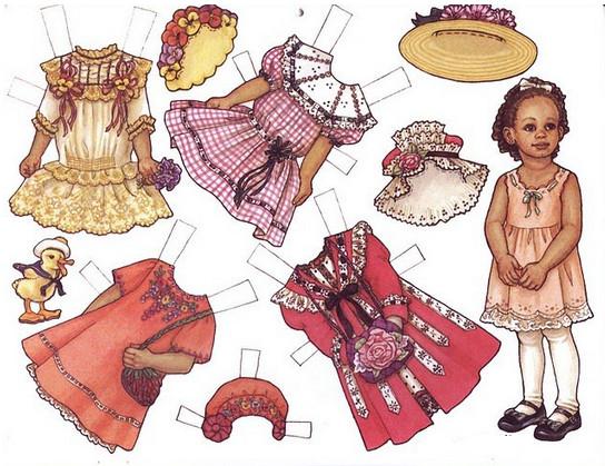 Бумажные куклы с одеждой для вырезания.