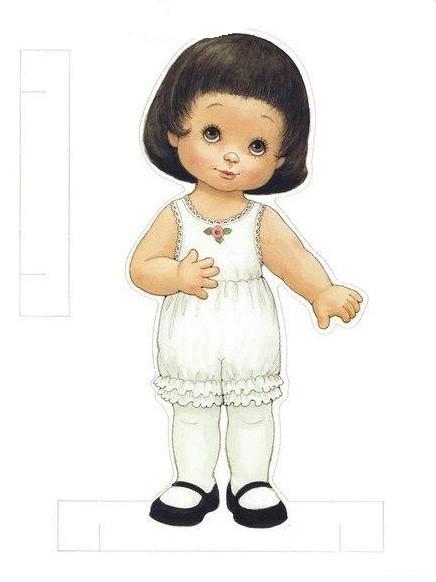 Бумажные куклы с одеждой для вырезания .
