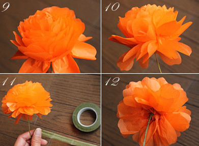 Как сделать объёмные цветы.