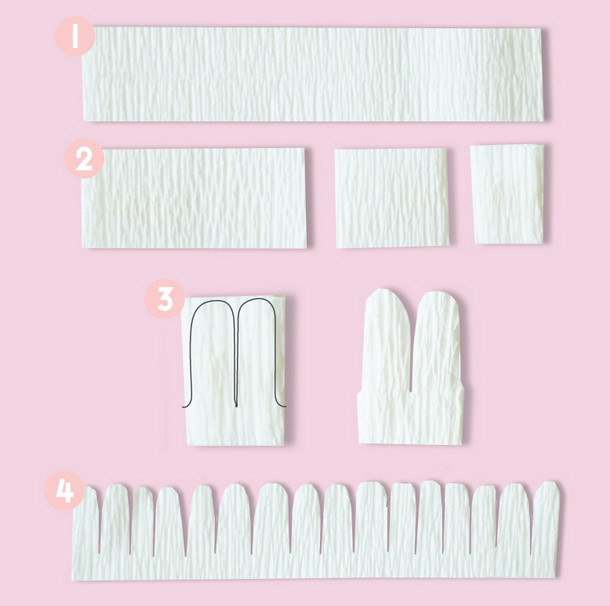 Как сделать цветы из гофрированной бумаги.