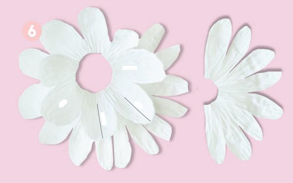 Как сделать цветы из гофрированной бумаги .
