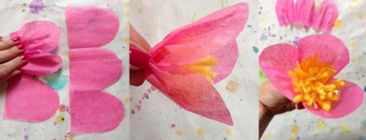 Красивые цветы из бумаги.