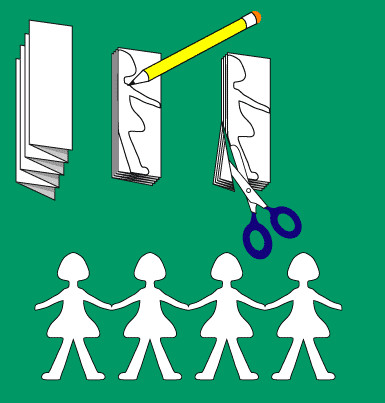 Куклы из бумаги своими руками.