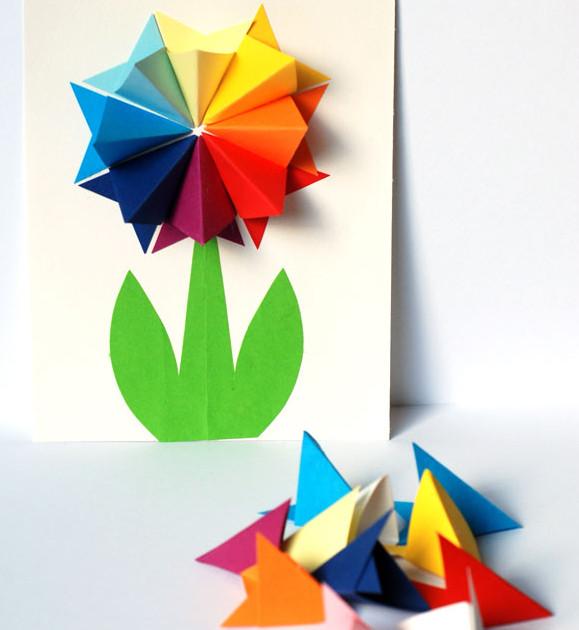 Открытки с цветами своими руками (33)