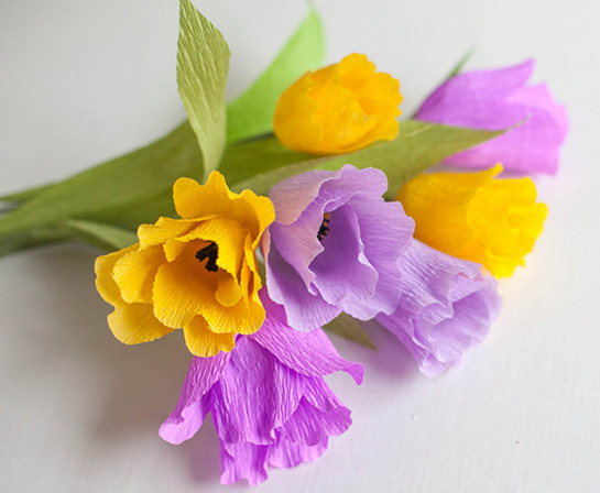Тюльпан из бумаги мастер класс