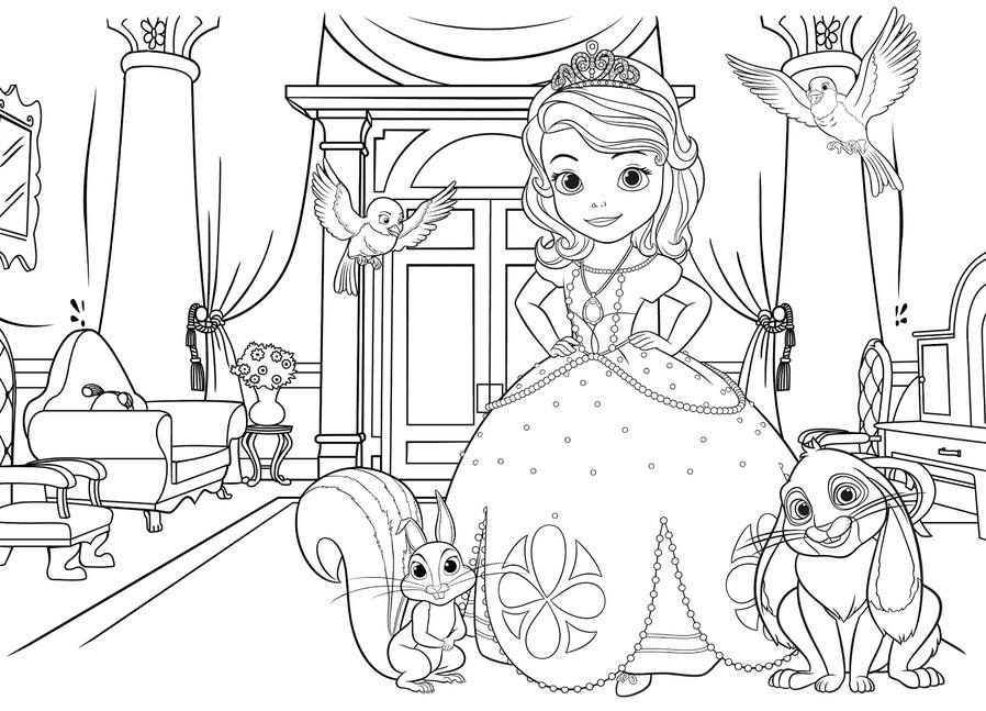 Распечатать раскраски с принцессами для девочек