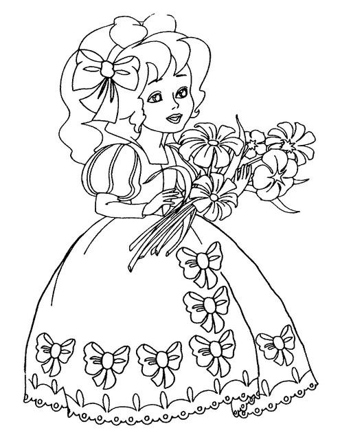 Картинки для раскраски для девочек онлайн бесплатно