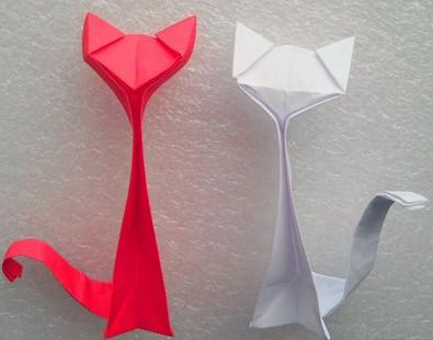 Кошка оригами.