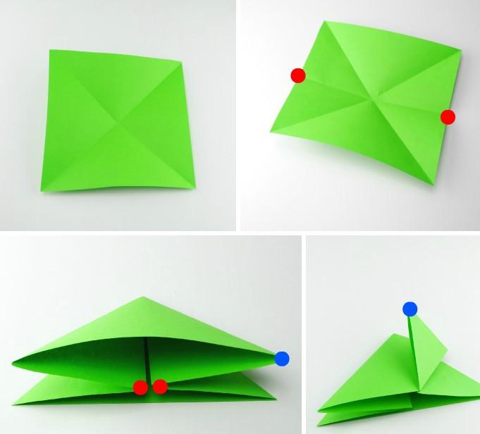 Оригами лягушка (2)