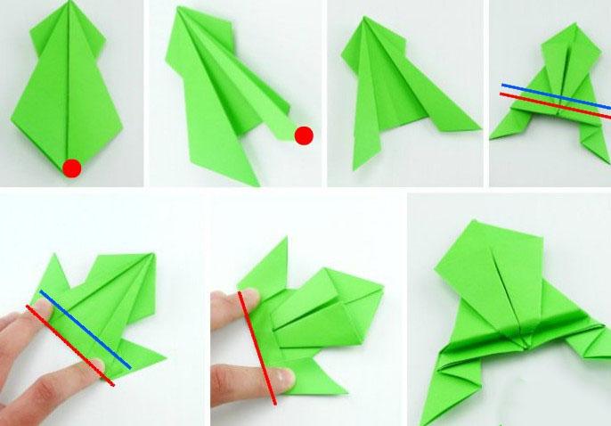 Оригами лягушка.