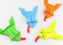 Оригами лягушка (5)