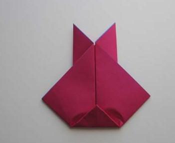 Оригами зайчик.