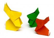 Оригами зайчик (2)