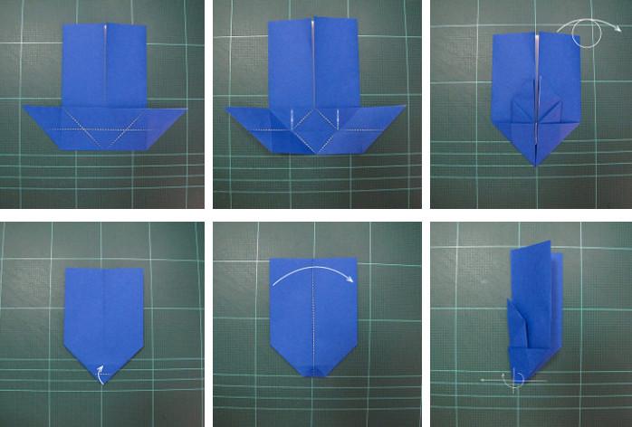 Оригами зайчик .