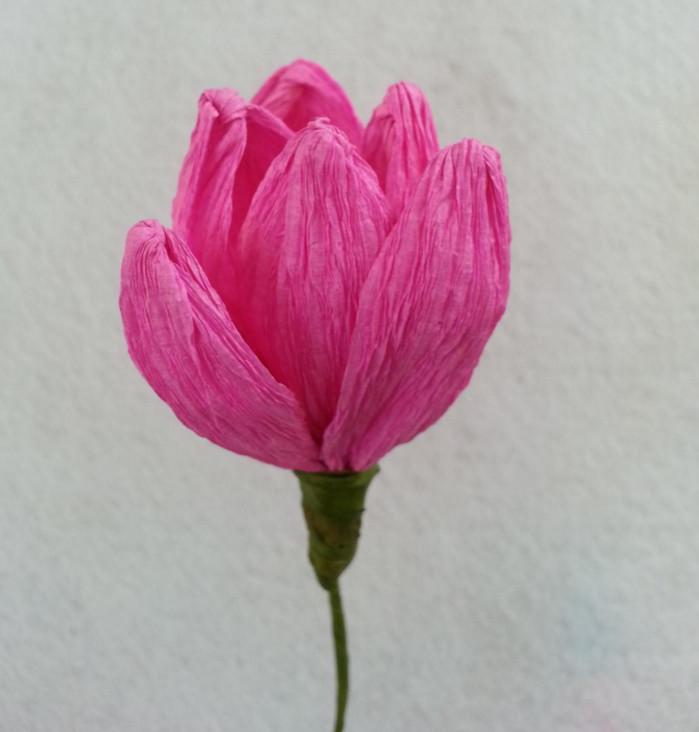 Корзинка с цветами из гофробумаги » Сделай сам