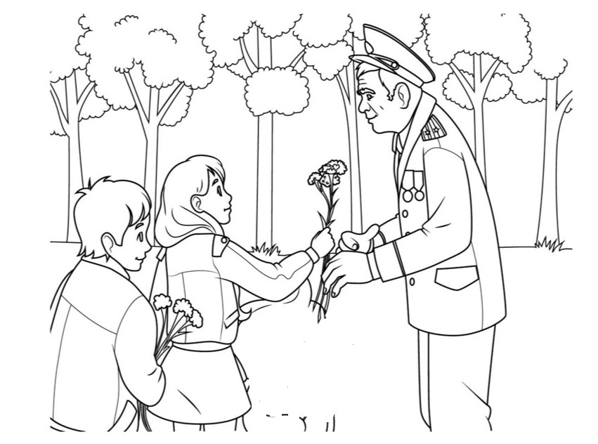 Раскраски День Победы