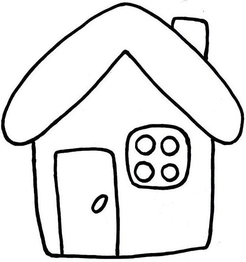 Картинки домика для детей раскраска