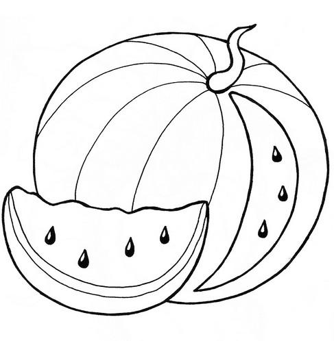 Раскраски арбуз для детей