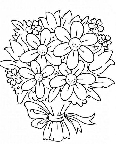 Раскраски цветы разные
