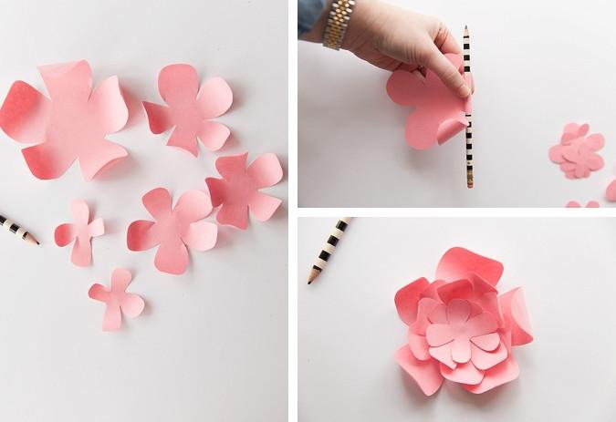Цветы поэтапно своими руками из бумаги