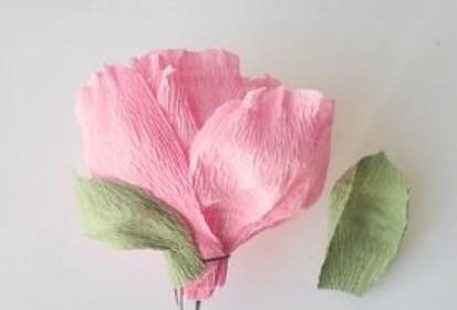 Цветы из бумаги .
