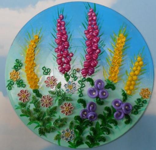 Поделки из макарон своими руками цветы для фото 294