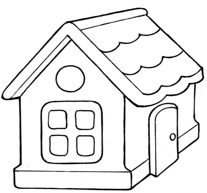 Раскраски дома для детей