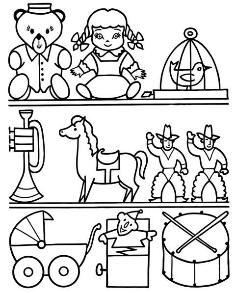 Раскраски с игрушками