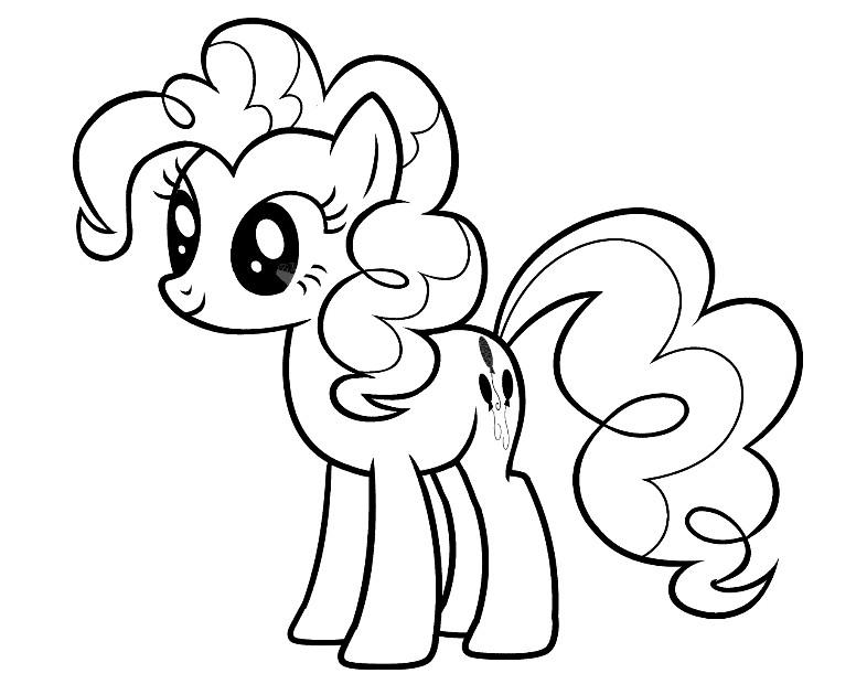 Рскраски пони