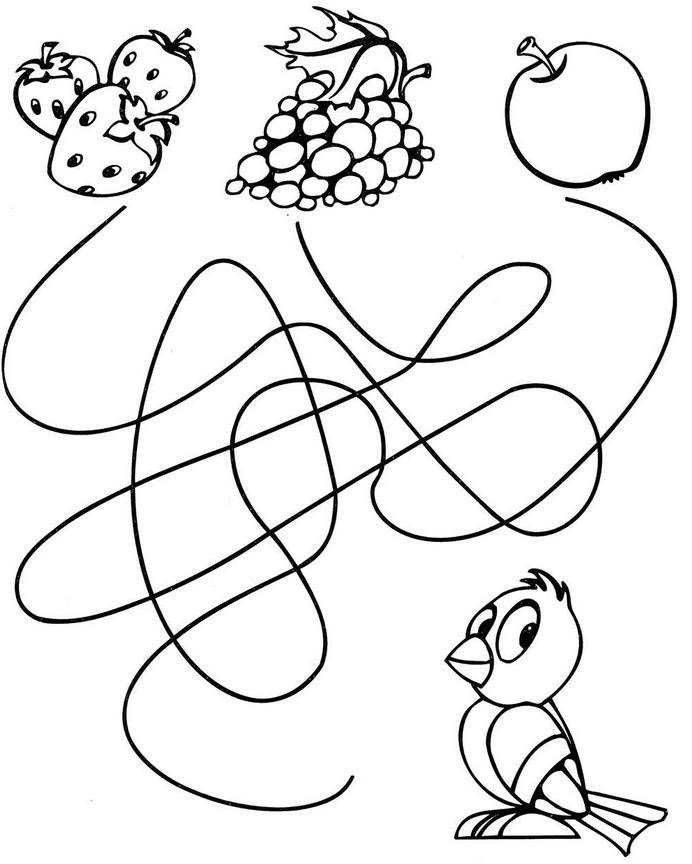 шаблоны для раскрасок яблоко