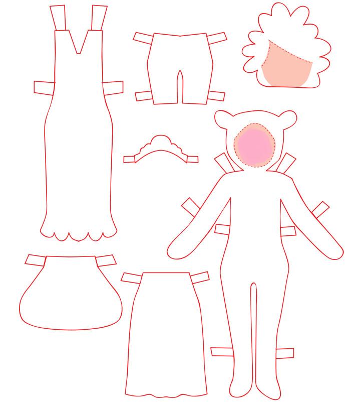 Как сделать куклу из бумаги