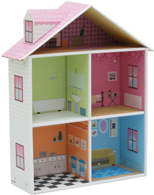Как сделать для игрушек домик из бумаги