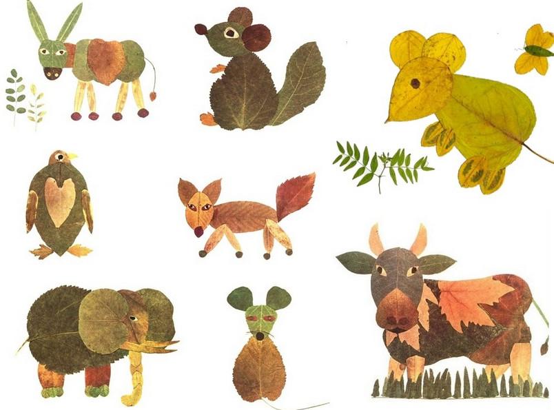 Картины из осенних листьев