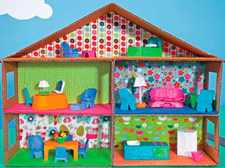 Дом из бумаги для куклы своими руками