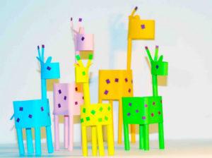 Жирафы из бумаги